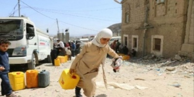 """اغتيال """"أطفال المياه"""".. ملائكة يروون عطش تعز والإرهاب الحوثي الإخواني يقصفهم"""