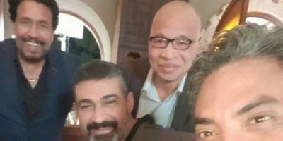"""شاهد النجم ياسر جلال وفتحي عبد الوهاب من كواليس """" لمس أكتاف """""""