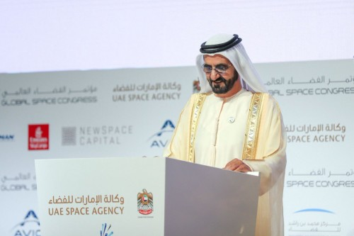 بن راشد يشهد انطلاق أعمال مؤتمر الفضاء العالمي بأبوظبي (صور)