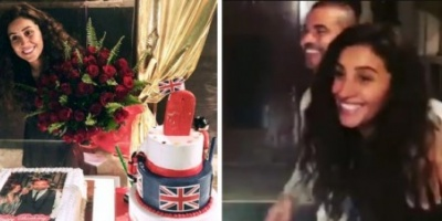 """عمرو أديب معلقًا على احتفال الهضبة بعيد ميلاد دينا الشربيني :"""" تورتة بـ 25 جنيه"""""""
