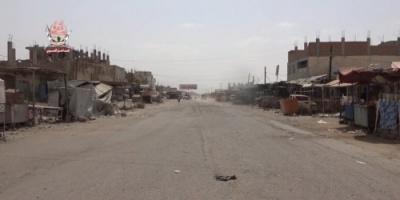 مليشيات الحوثي تقصف مواقع العمالقة في مديرية حيس بالحديدة