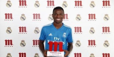 فينسيوس جونيور أفضل لاعب في ريال مدريد بشهر فبراير