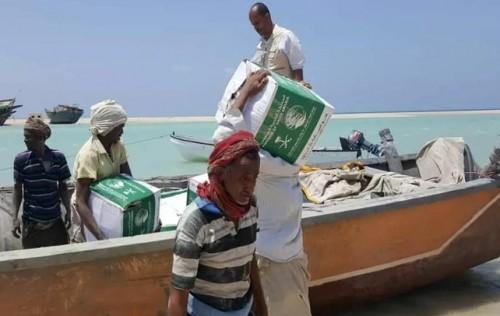 ائتلاف الخير يسير حملة إغاثية إلى جزيرة ميون في باب المندب