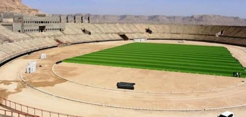 مشروع تعشيب استاد سيئون الأولمبي يصل مراحله النهائية