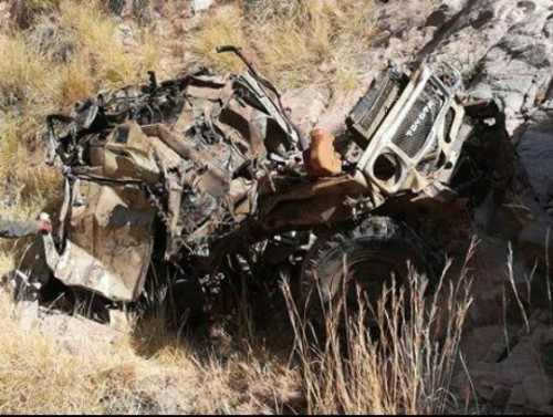 مصرع امرأة وإصابة آخرين بحادث مروع في الشعيب بالضالع (صور)