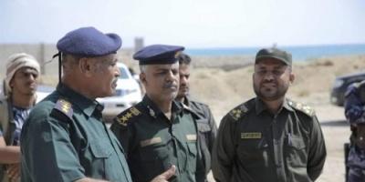 زيارة خاصة من العميد التميمي لنقطة شموسه بساحل حضرموت (صور)