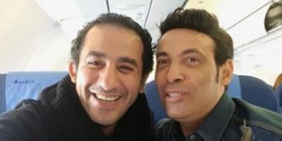 """"""" التواضع كله """".. شاهد سعد الصغير برفقة النجم أحمد حلمي"""