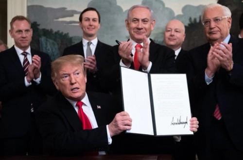 ترامب: اتفاق محتمل يشمل حق إسرائيل فى الدفاع عن نفسها