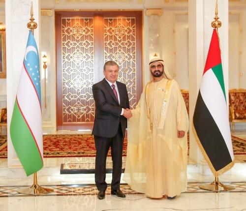 بن راشد يستقبل رئيس جمهورية أوزبكستان