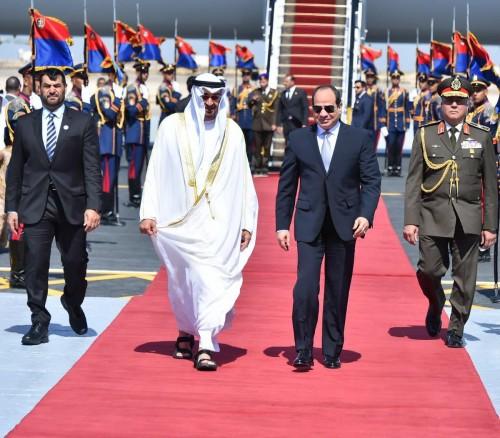 شاهد.. أبرز الصور للقاء الرئيس المصري بولي عهد أبوظبي