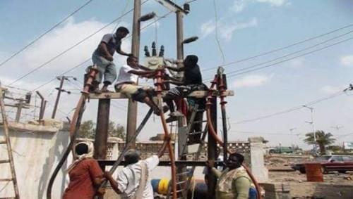 عودة التيار الكهربائي لمديرية شقرة بأبين بعد انقطاع دام 4 أيام