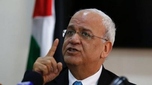 """"""" عريقات """" يطالب الاتحاد الأوروبي الاعتراف الفوري بدولة فلسطين"""