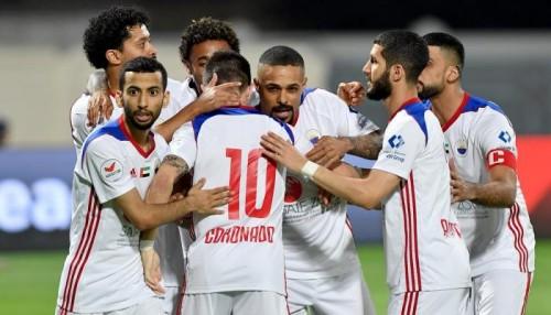 الشارقة يقترب من لقب الدوري الإماراتي بثلاثية الجزيرة