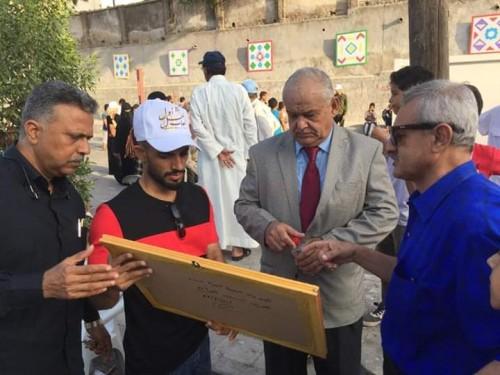 """رئيس القيادة المحلية بانتقالي عدن يشارك في تدشين مهرجان """"ألعاب أهل أول"""" بكريتر (صور)"""
