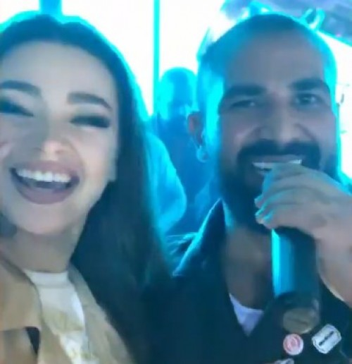 بعد انفصاله عن سمية الخشاب.. أحمد سعد يحتفل مع الراقصة جوهرة (صور)
