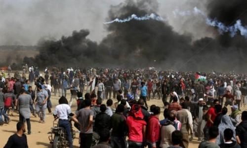 ارتفاع حصلية ضحايا مليونية العودة بغزة إلى 3 شهداء و112 مصاب