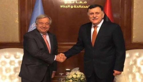 الأمين العام للأمم المتحدة يصل إلى بنغازي لبحث سبل التهدئة