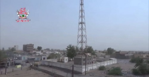 قصف حوثي على مواقع ألوية العمالقة في الجبلية بالتحيتا