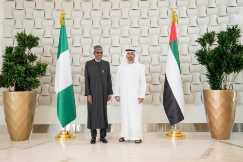 محمد بن زايد يستقبل رئيس نيجيريا