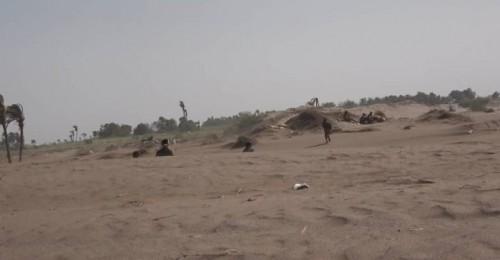 إصابة جندي جراء قصف حوثي على مواقع العمالقة في الجبلية