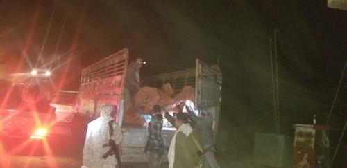 ضبط شحنة قذائف وذخائر كانت في طريقها للحوثيين جنوب شرق تعز(صور)