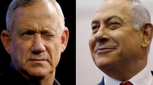 مفارقة بالانتخابات الإسرائيلية: نتنياهو وغانتس يعلنان فوزهما