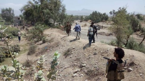 حزام الضالع يشن حملات أمنية موسعة لملاحقة العناصر المتحوثة شمال المحافظة (صور)