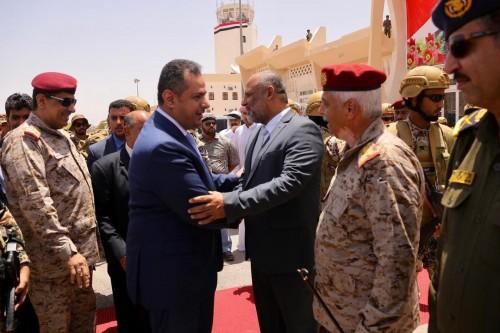 رئيس الحكومة اليمنية يصل سيئون لحضور جلسة النواب
