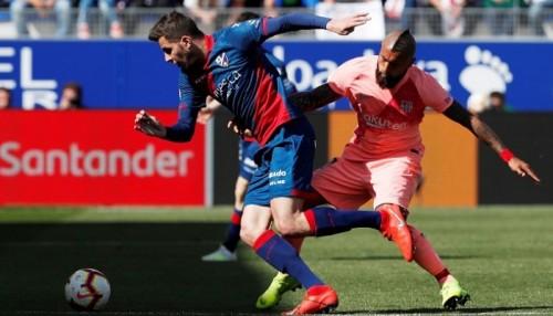 فيدال راض بتعادل برشلونة مع هويسكا في الدوري الإسباني