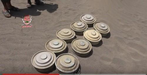 الفرق الهندسية للعمالقة تنزع عدد من الألغام الحوثية في التحيتا (فيديو)