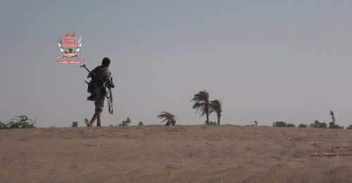استشهاد أحد جنود العمالقة بقصف حوثي على منطقة الجبلية في الحديدة