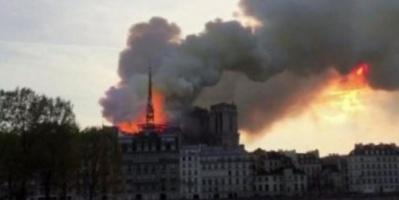 400 عنصر إطفاء يتواجدون بموقع حادث كاتدرائية نوتردام بباريس