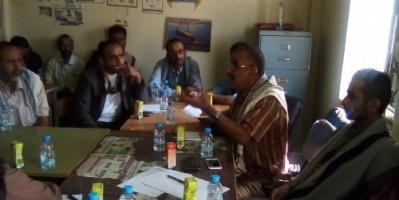 اجتماع بشبوة يصدر عدة قرارات لضبط المسح الميداني لمستحقي المساعدات