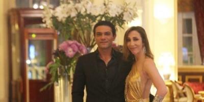 هكذا احتفل آسر ياسين بعيد ميلاد زوجته (صورة)