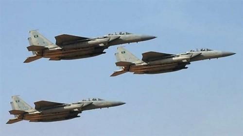 التحالف العربي يقصف مواقع للحوثي في جبهة حمك بالضالع