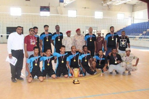 لواء النخبة الحضرمي يفوز ببطولة كرة الطائرة ضمن منافسات وحدات المنطقة الثانية