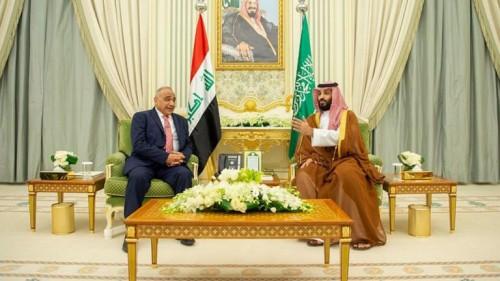 بن سلمان وعبد الهادي يبحثان العلاقات السعودية العراقية بالرياض