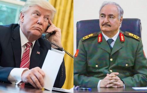 ترامب يبحث مع حفتر خطة محاربة الإرهاب بليبيا