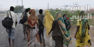 تدفق أعداد كبيرة من الأفارقة عبر لحج إلى المحافظات الشمالية يثير مخاوف المواطنين (صور)