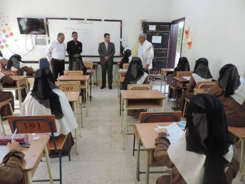 تدشين امتحانات إنهاء المرحلتين الأساسية والثانوية بوادي وصحراء حضرموت
