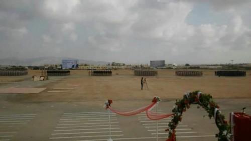 عرض عسكري بمناسبة الذكرى الثالثة لتحرير ساحل حضرموت