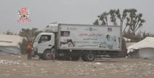 """العيادات المتنقلة بـ""""الهلال الإماراتي"""" تواصل تقديم خدماتها في الحديدة (فيديو)"""
