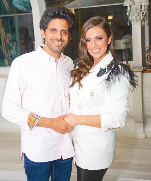 إسراء عبد الفتاح تحتفل بعيد زواجها الثاني من حمدي الميرغني