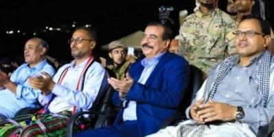 بن بريك يشهد احتفال العاصمة عدن بالذكرى الثالثة لتحرير ساحل حضرموت