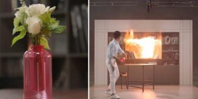 سامسونغ تبتكر زهرية تطفئ الحرائق بشكل فوري (فيديو)