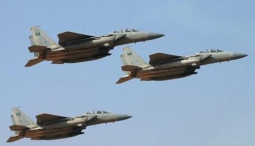 مقاتلات التحالف تشن عدة غارات على تجمعات الحوثي شمال الضالع