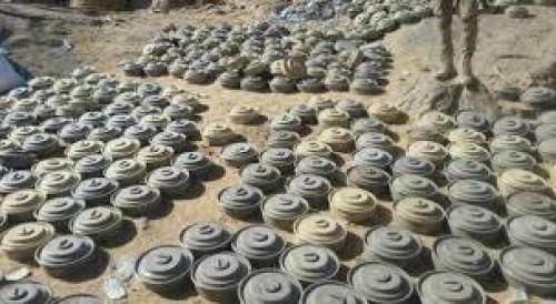 تفاصيل إتلاف 7 آلاف لغم زرعها الحوثي في حجة