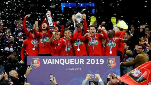 رين يفوز بكأس فرنسا ويهزم باريس سان جيرمان