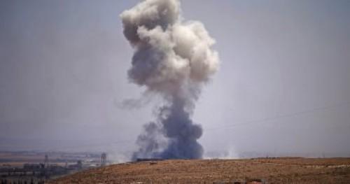 قذائف صاروخية يشنها مجموعات إرهابية بريف حماة الشمالى في سوريا