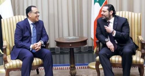 انطلاق جلسة مباحثات ثنائية بين رئيس الوزراء اللبنانى ونظيره المصري